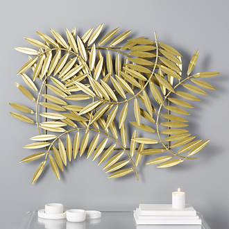 Custom Modern Home Decor With Ceres Leaves Gold Wall Decor