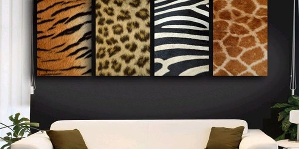 Fresh African Style Interior Design With Animal Pattern Wall Decoration African Style