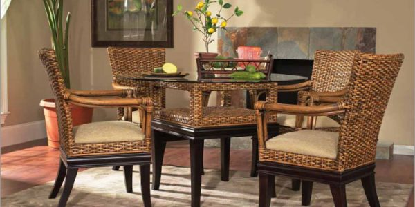 Perfect Wicker Dining Sets With Rattan Wood Dining Room Chairs