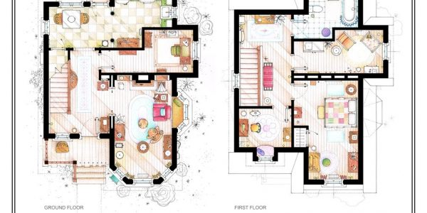 Beautiful Interior Design Floor Plan With UP Ellie And Carl Fredricksen House Floor Plans