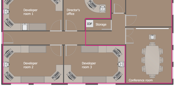 Awesome Floor Plan Layout With Computer And Networks Network Layout Floor Plans Office Network Floor Plan