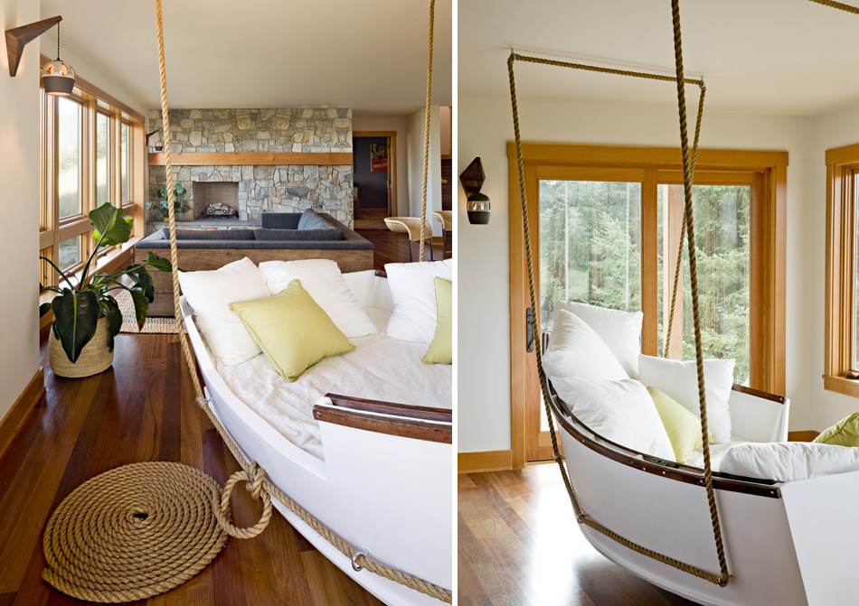 Good Boat Interior Design Ideas With Boat Converted To Swinging Day Bed