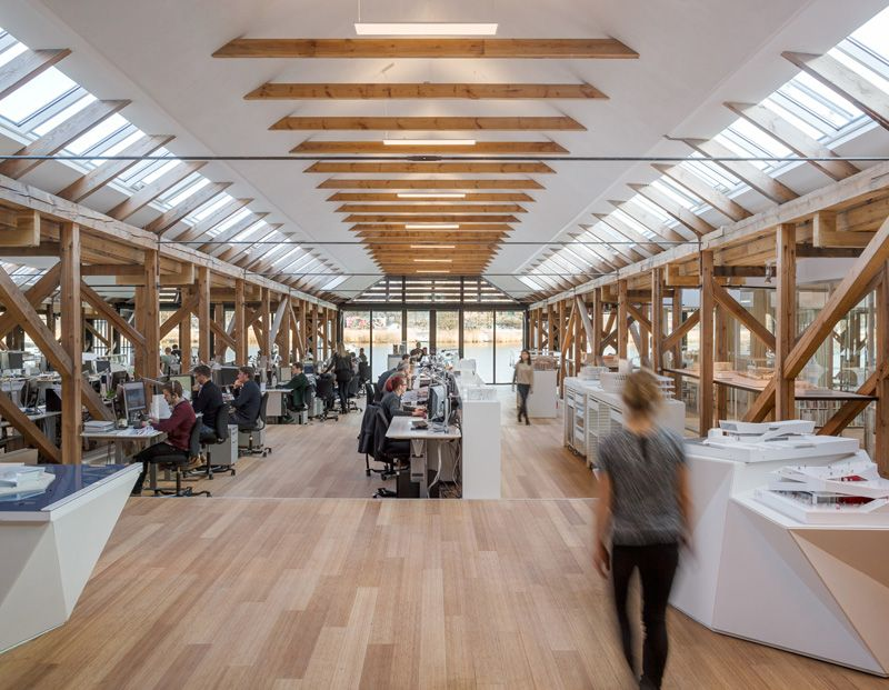 Perfect Boat Interior Design Ideas With Modern Office That Was Renovated From Historic Boat House