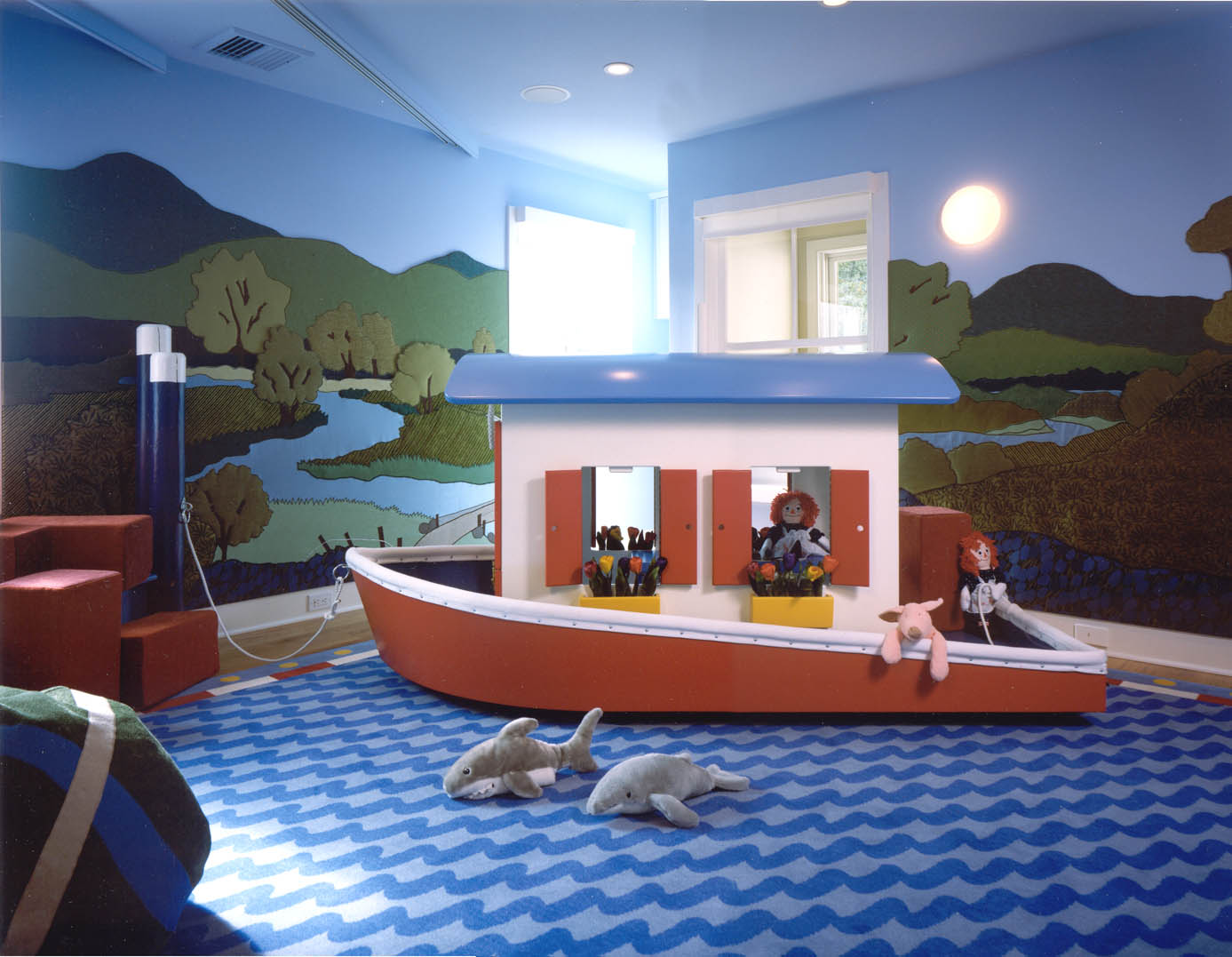 Perfect Boat Interior Design Ideas With Twining Design Seascape Childs Room Boat Wall Murals