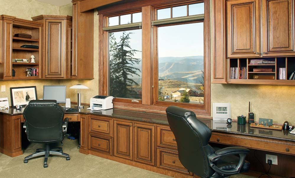 New Built In Home Office Designs With Built In Home Office Designs Glamorous Diy Hunt Woods Material Built In Desk Cabinets Home Office Design