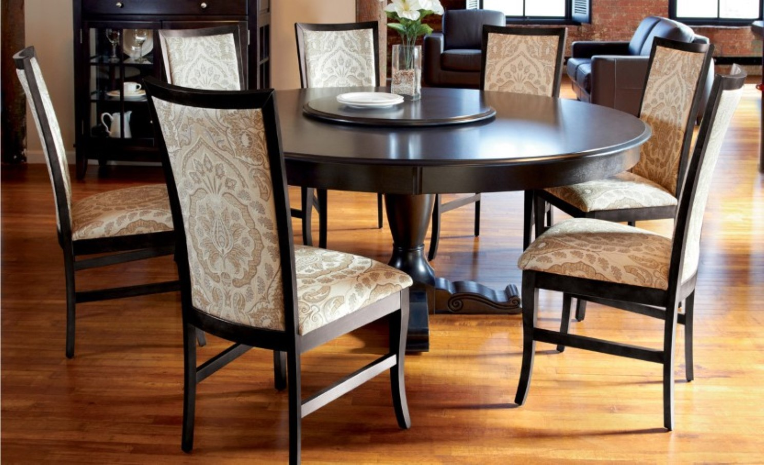 Trend Round Dining Room Table For 8 With Modern Round Dining Table Ideas