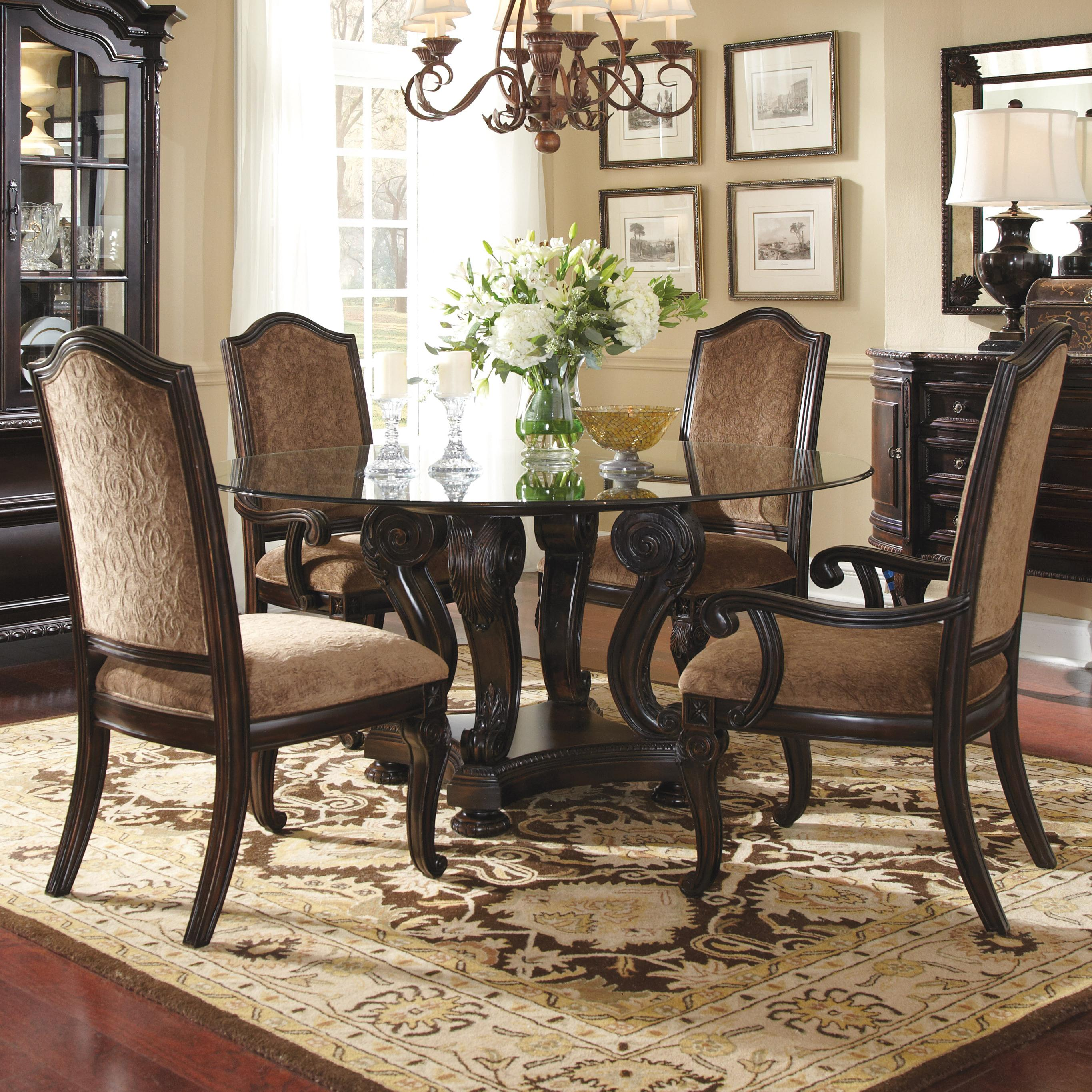 Cheap Round Dining Room Table For 8 With Dining Room Currently Viewing Kitchen Round Table Design Inspiration Decoration Ravishing Bronze Chandelier Over High Bak Chairs Set And Large Wood Dinner Table Design Ideas Interior Design Interiors