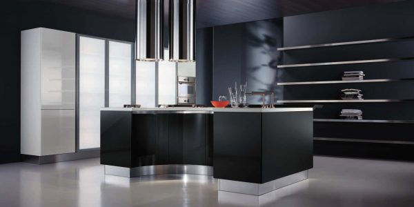 Great Best Home Interior Design With Modern Kitchen Modern Best Kitchen Home With Black Island Also Cabinetry With Panel Appliances Also Drawers And Lockers Storages Also Grey Marble Flooring Tile Modern Kitchen Ideas With Cabinetry Also Island Also Wooden