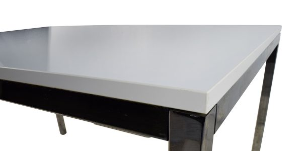 Awesome Ikea White Dining Table With Ikea White Top Dining Table With Silver Chrome Legs Second Hand