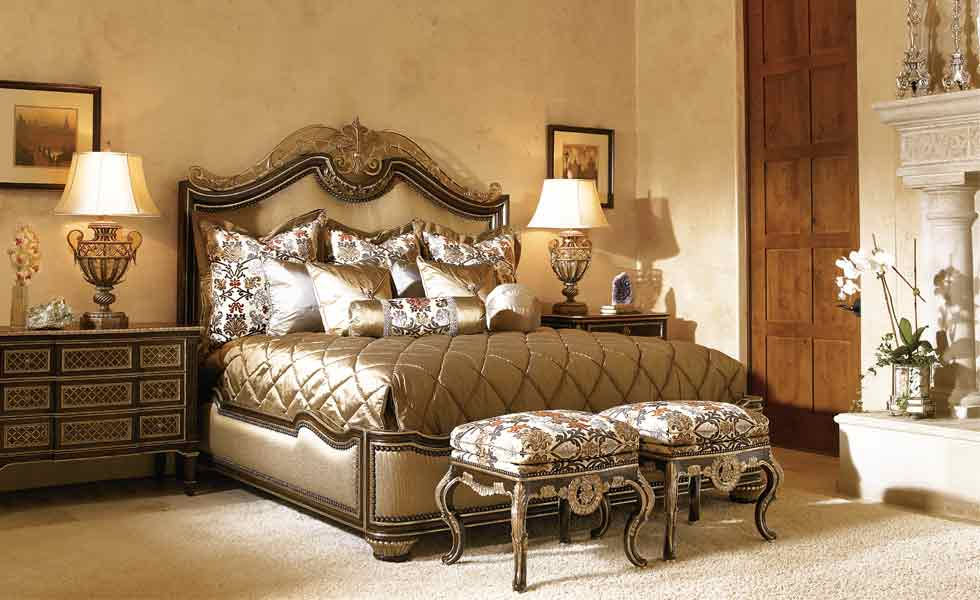 Great Bed Furniture Stores With Luxury Bedroom Sets Gold