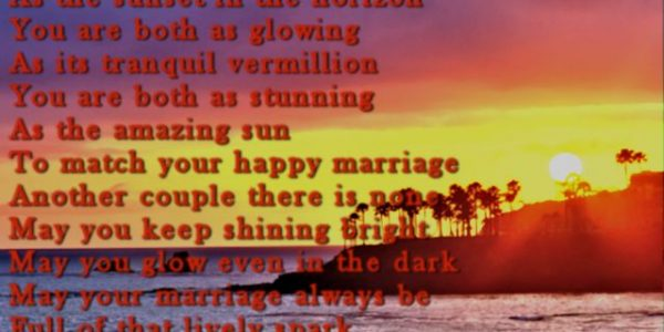 Great 1st Wedding Anniversary Wishes With Sweet First Wedding Anniversary Greeting Card Poem For Husband Wife