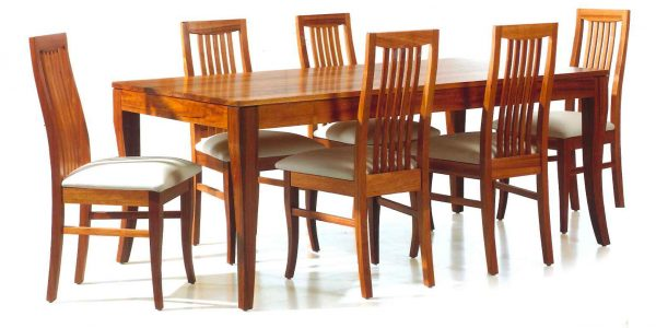 Popular Wooden Dining Room Chairs With Amazing Wooden Dining Table Pads Rectangular With Wood Padded Chair On White Ceramic Flooring