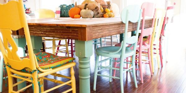 Fresh Painted Dining Room Chairs With The Colorful Chairs On Pinterest Chairs Princess Chair And Red Intended For Colorful Kitchen Tables Remodel