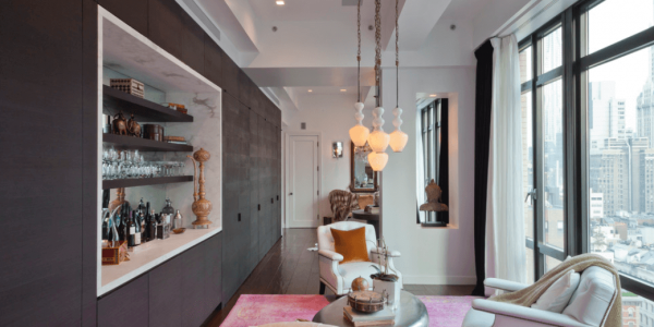 Good Best Modern Home Interior Design With Mid Century City Bar