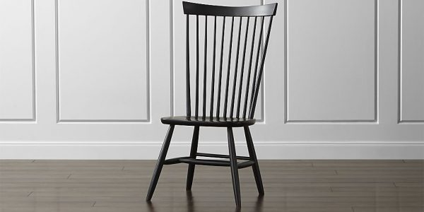 Nice Wood Dining Chairs With Marlow Ii Black Dining Chair
