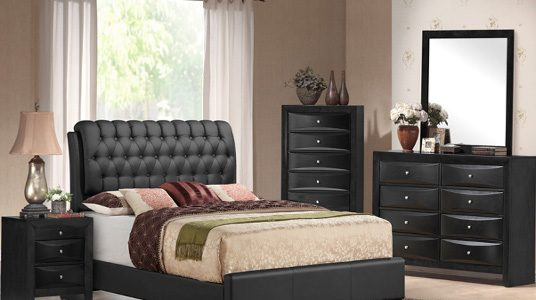 Excellent Ashley Furniture Distribution Center With Bedroom Emily Black Upholstred CATEGORY