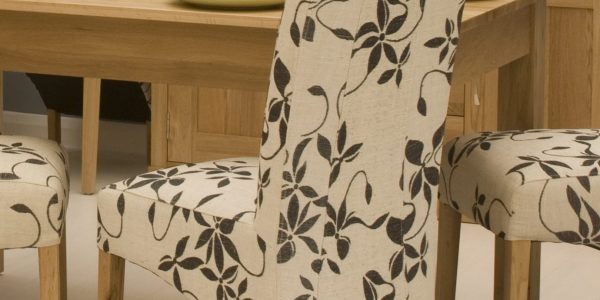 Best Patterned Dining Chairs With Contemporary Dining Chairs In White Flowery Motif Made Of Fabric And Light Brown Legs Made Of Wood