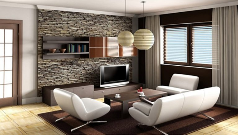 Minimalist Furniture Ideas Living Room With Living Room Ideas Furniture Living Room Furniture Stone Walls And Glass Windows And A White Sofa And Floor Tiles
