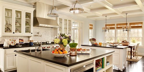 Cheap Kitchen Remodelling With Large Kitchen Remodeling With White Furniture And Dark Flooring