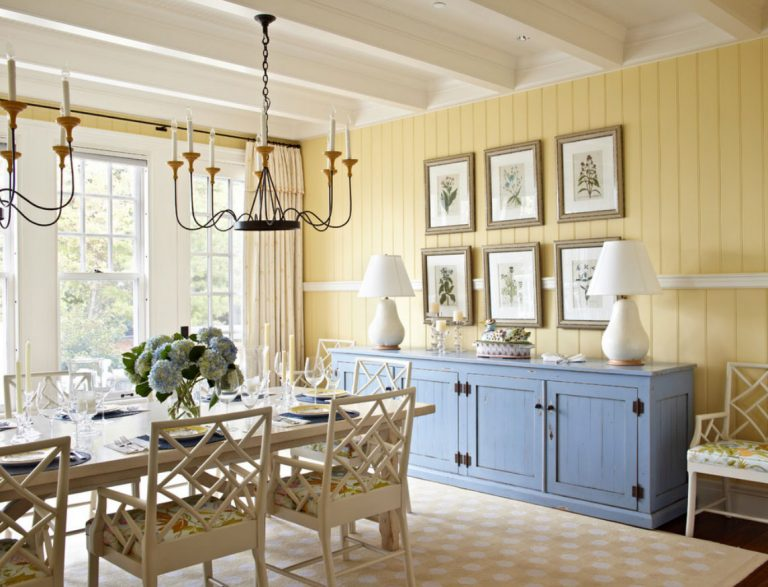 Cheap Dining Room Paint Color Ideas With Pleasurable Home Dining Room Design Inspiration Combining Bright Yellow Dining Room Color Painting Complete Wooden Console Table In Blue Pastel Also Winsome White Oak Wooden Dining Table Plus Charming