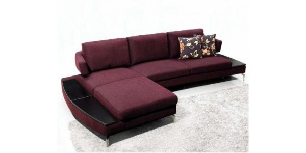 Good All World Furniture With Heather Fabric Sectional Sofa
