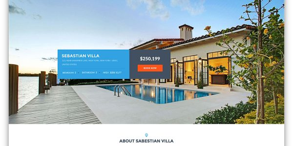 Minimalist Property Real Estate With Dreamvilla Simple Real Estate Wordpress Website Template