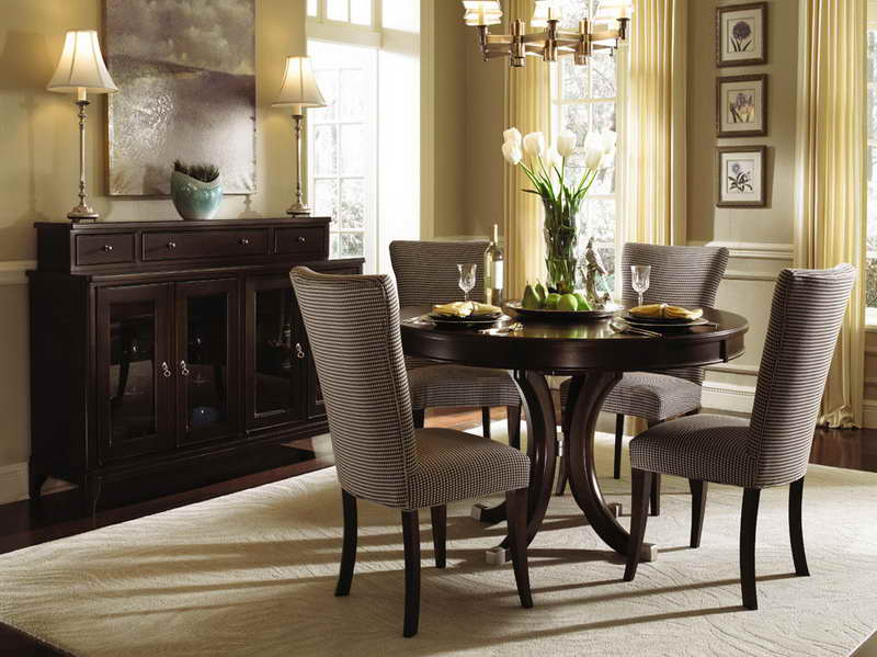 Luxury Round Table Dining Room Sets With Small Marble For Modern Set