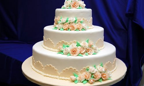 Three Tier Wedding Cake Decoration