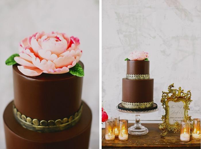 20 Decadent and Delicious Chocolate Wedding Cakes