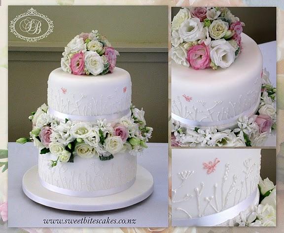 Wild Flowers Wedding Cake
