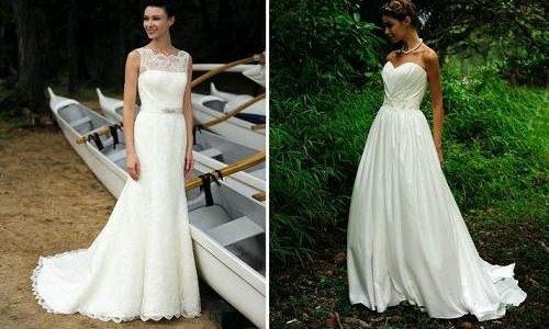 Costless White Beach Wedding Dresses Casual