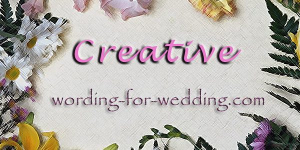 Creative Samples for Wedding Invites Wording for Your Cards