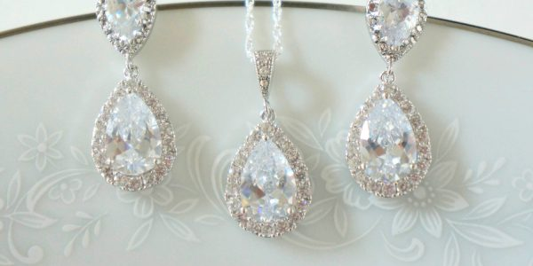 Crystal Bridal Earrings Bridal Jewelry