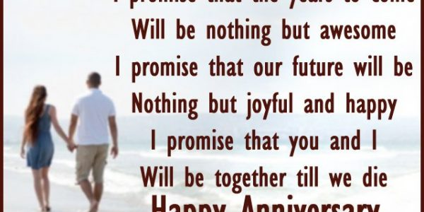 Minimalist Wedding Anniversary Poems For Wife With Happy Anniversary Card Message Poem For Husband