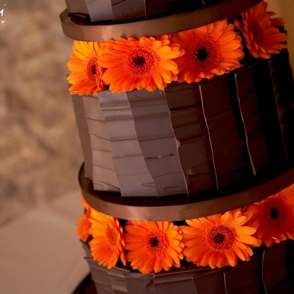 Floral Chocolate Wedding Cakes