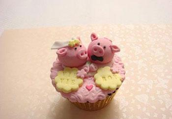 Put Your Name Wedding Cupcake
