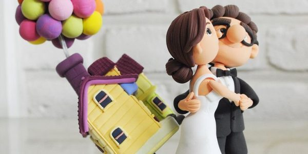 UP Wedding Cake Topper