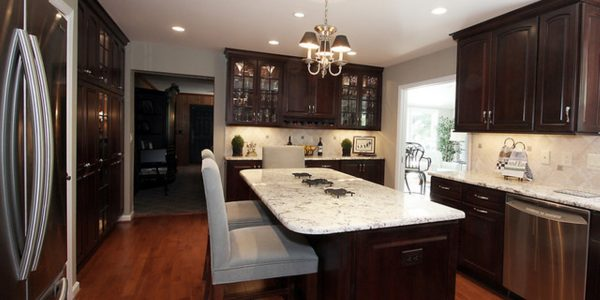 Impressive Remodel Small Kitchen With Small Kitchen Remodel Ideas With Dark Brown Cabinets And Hardwood Floors