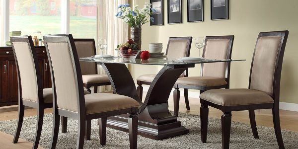 Great Chairs For Dining Table With Dining Table Sets With Rectangular Glass Top
