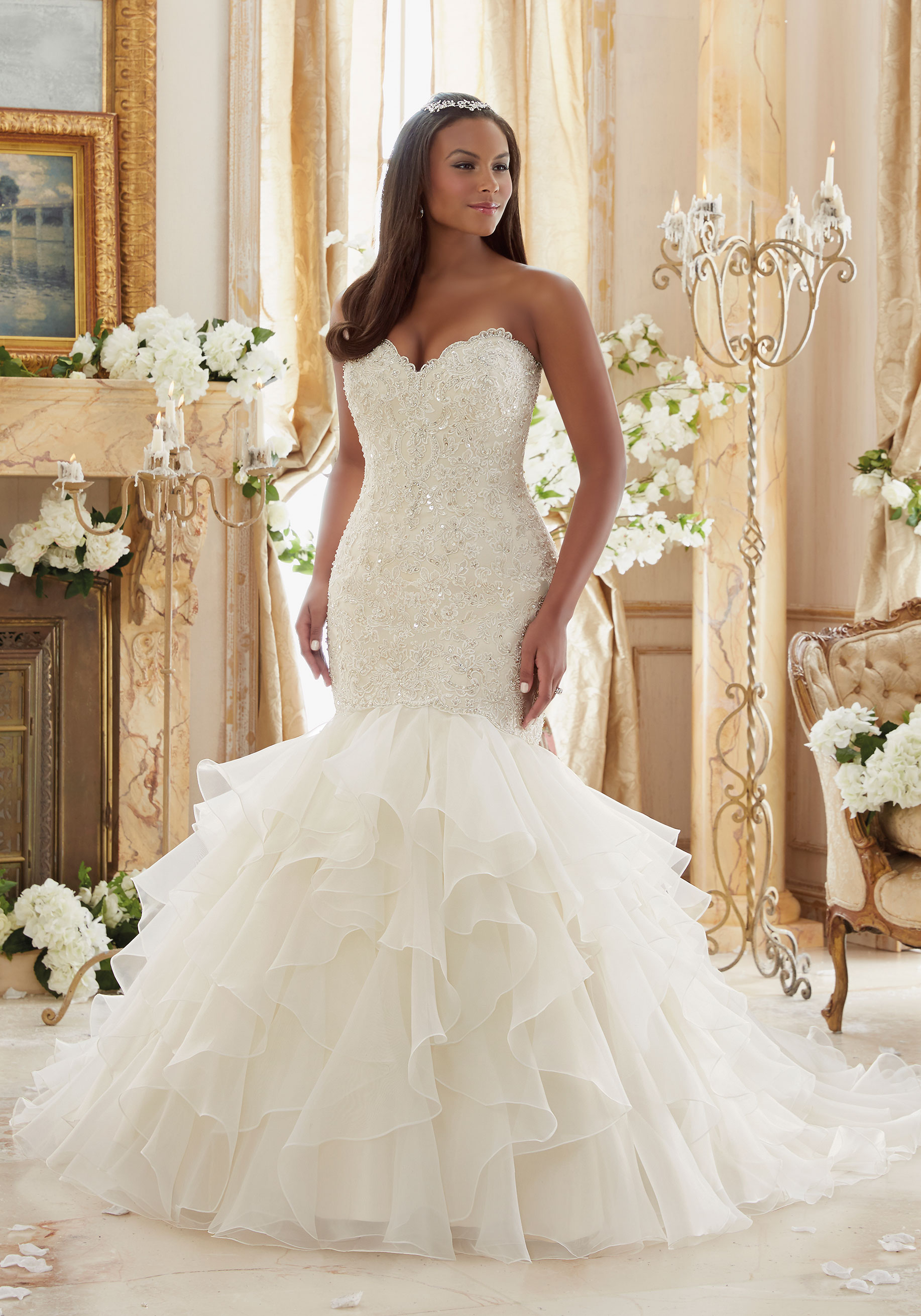 Fit Flare Plus Size Wedding Dress