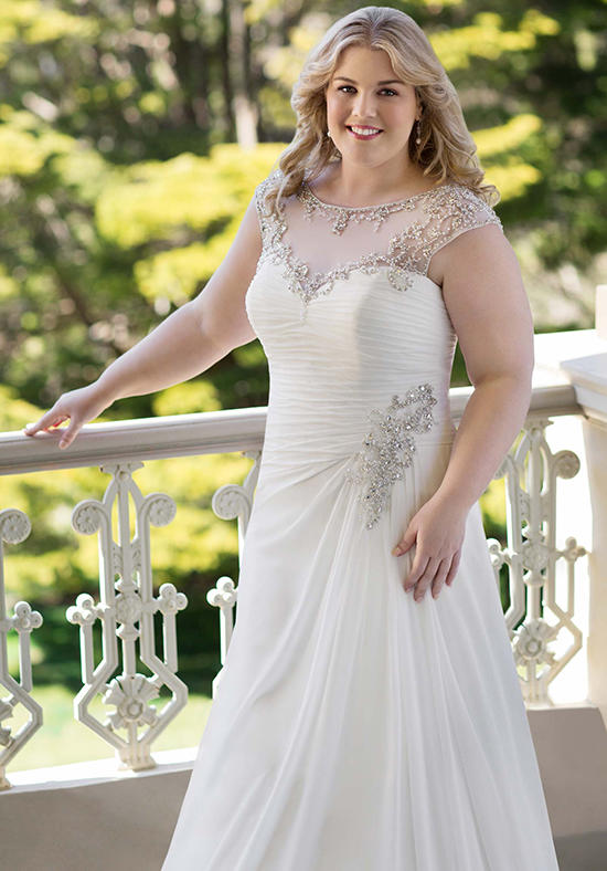 Fit and Flare Plus Size Wedding Dress