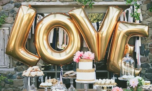 The Alphabet Design Of Balloons For Your Wedding Decorations