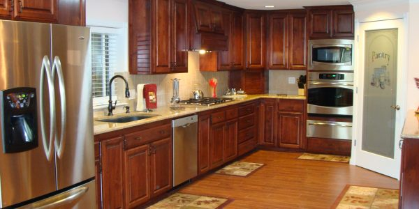 Brilliant Kitchen Remodeling Ideas With Kitchen Enchanting Kitchen Remodeling Ideas Wooden Varnished Kitchen Cabinet White Blind Stainless Steel Kitchen Appliances Stainless Steel Dishwasher Wooden Laminated Floor Rectangle