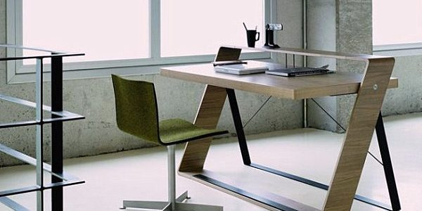 Beautiful Office Desk Modern With Walnut Modern Office Desk