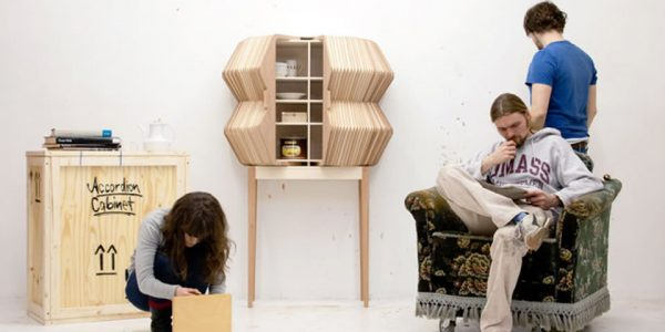 Amazing Creative Furniture Design Ideas With Creative Storage Furniture Design Of Accordion Cabinet By Elisa Sebastian
