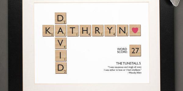 Perfect Cotton Wedding Anniversary Ideas With Personalised Letter Tiles Print A