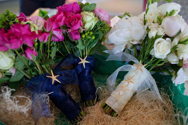 Summer Wedding Ideas Starfish Bouquet Shoreshotz1 Photography