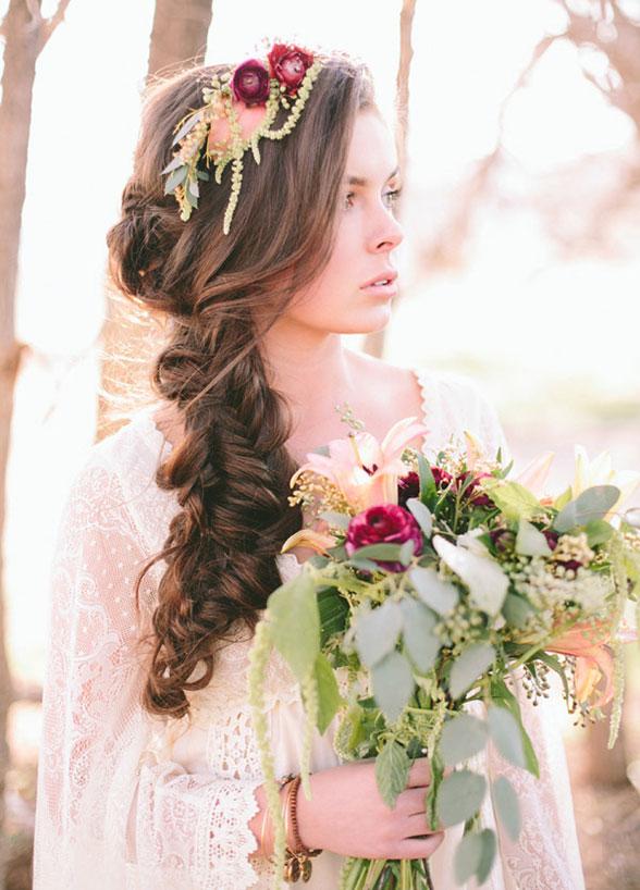 Flower Headband And Flower Bouquet
