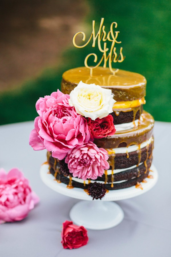 Trendy Naked Wedding Cakes For Fall Brides