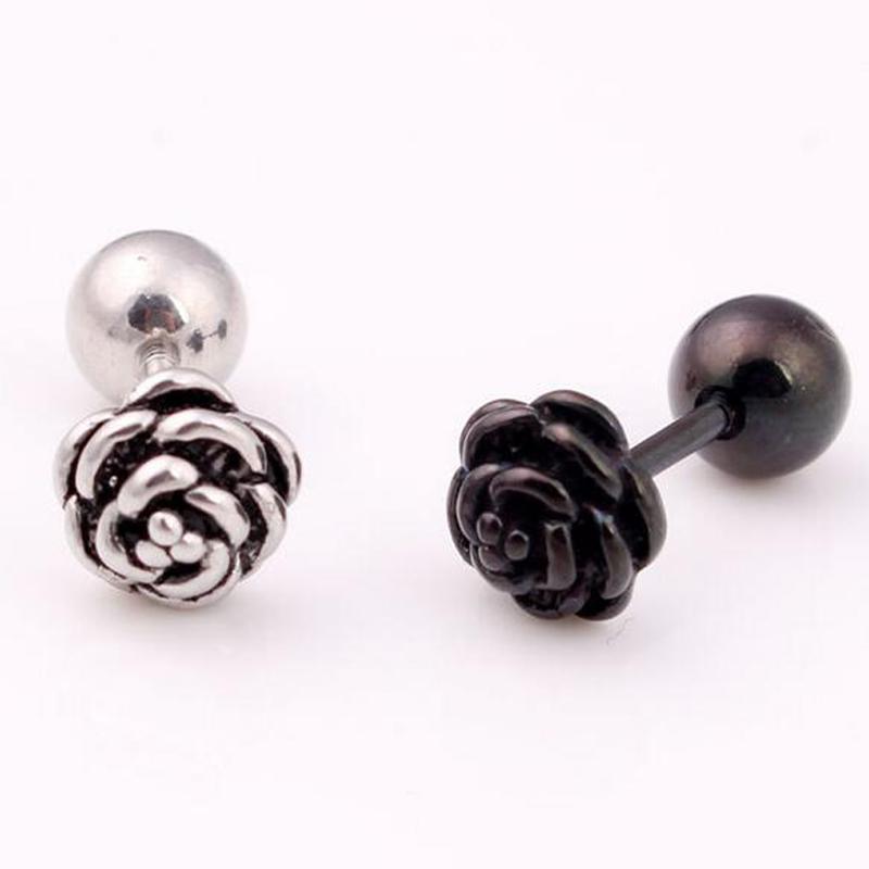 Stud Black Wedding Earrings